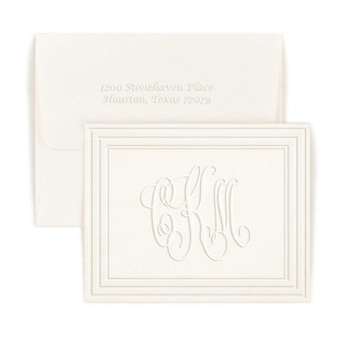 Monogram Frame Note