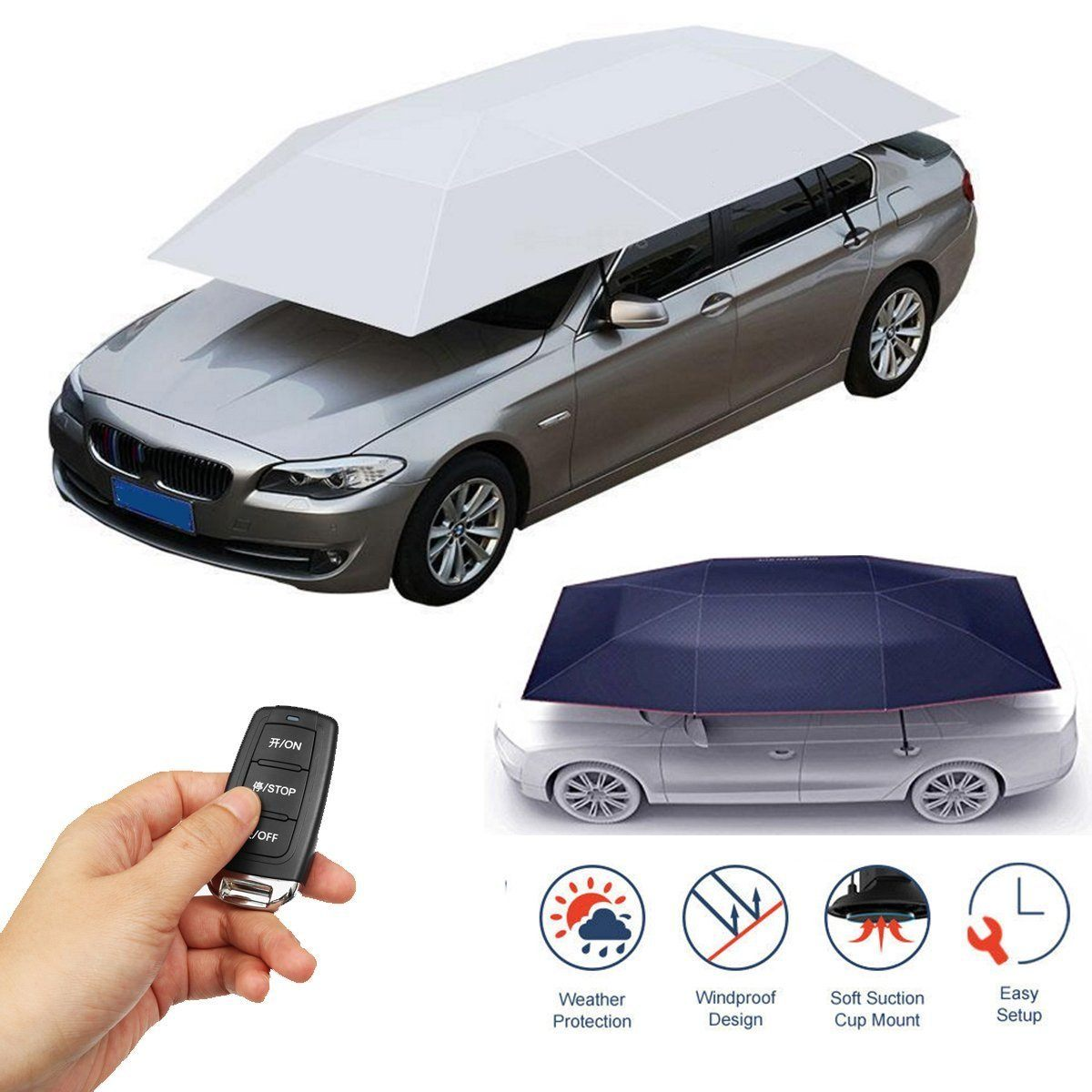 Portable Outdoor Shelter Canopy Stretch Car Sunshade Tent Full Automatic Umbrella  sc 1 st  Dragon Mall SA & Portable Outdoor Shelter Canopy Stretch Car Sunshade Tent Full Automat