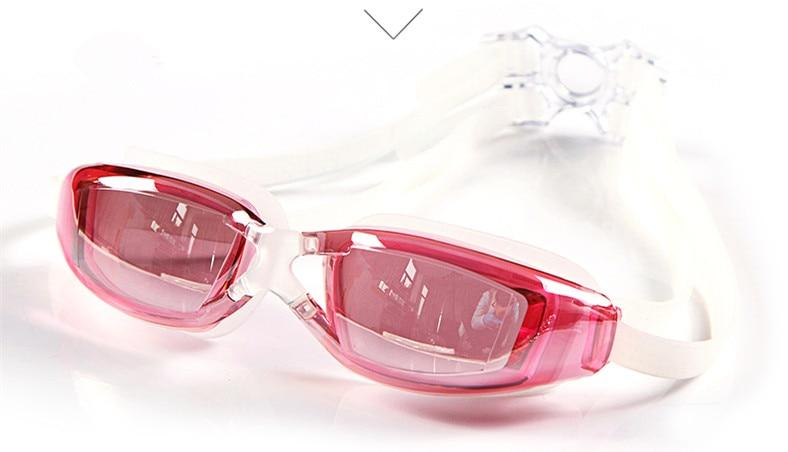 e95d776f79d9 YUKE Anti-Fog UV Protect Swimming Goggles With Swim Cap - Pink (SPH -2.5)