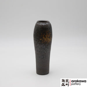 Shino & Wood Ash Glaze Miniature Arrangement  Ikebana container made of Dark Brown Stoneware by Thomas Arakawa at Arakawa Pottery
