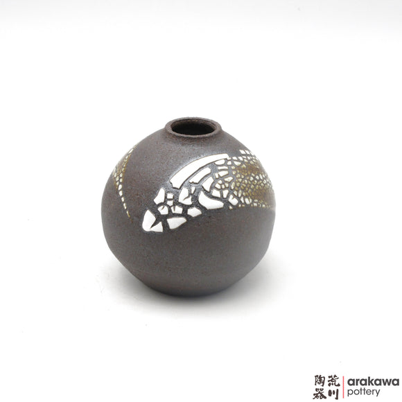 Handmade Ceramic Ikebana Container: Mini Vase, Crackle glaze - 1127 - 072 made by Thomas Arakawa and Kathy Lee-Arakawa at Arakawa Pottery