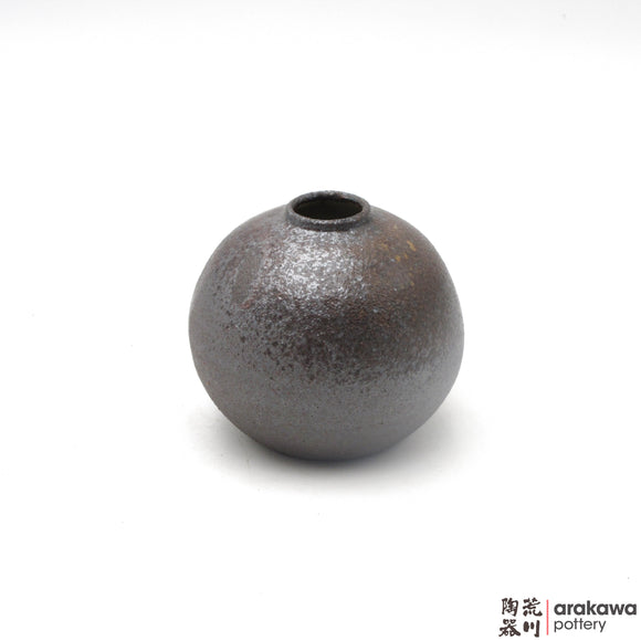 Handmade Ceramic Ikebana Container: Mini Vase, Wood Ash glaze - 1127 - 073 made by Thomas Arakawa and Kathy Lee-Arakawa at Arakawa Pottery
