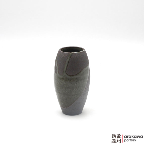 Handmade Ceramic Ikebana Container: Mini Vase (M) , Clear Drip glaze - 1127 - 115 made by Thomas Arakawa and Kathy Lee-Arakawa at Arakawa Pottery