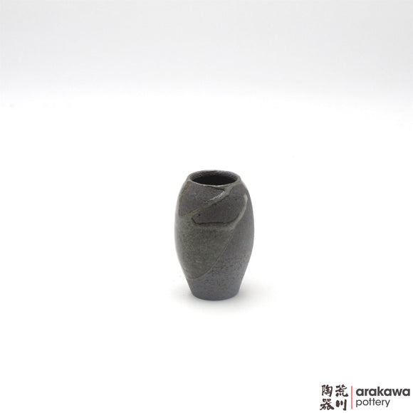 Handmade Ceramic Ikebana Container: Mini Vase (XS), Clear Drip glaze - 1127 - 122 made by Thomas Arakawa and Kathy Lee-Arakawa at Arakawa Pottery