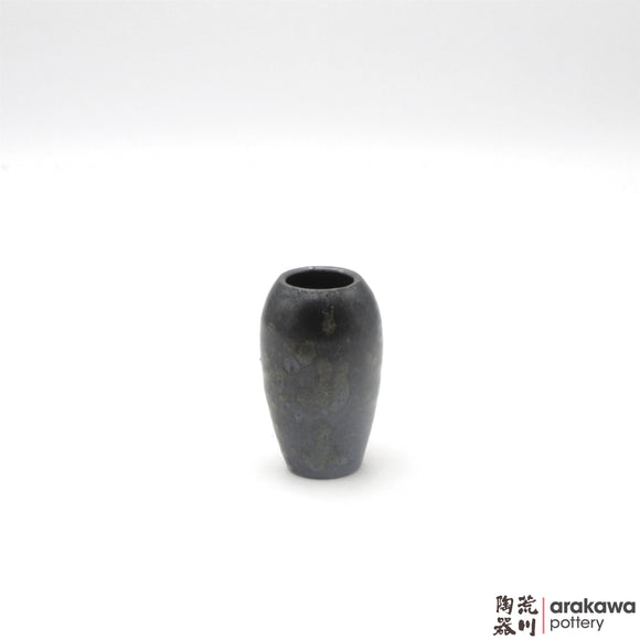 Handmade Ceramic Ikebana Container: Mini Vase (XS), Black  and Chun glaze - 1127 - 123 made by Thomas Arakawa and Kathy Lee-Arakawa at Arakawa Pottery