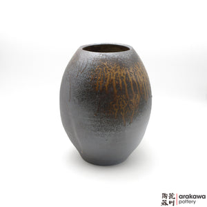 Handmade Ceramic Ikebana Container: Vase, Wood Ash glaze - 1127 - 132 made by Thomas Arakawa and Kathy Lee-Arakawa at Arakawa Pottery