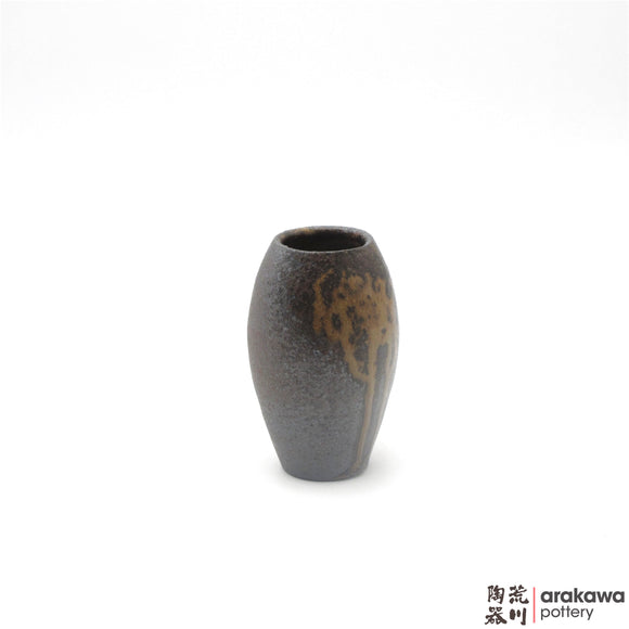 Handmade Ceramic Ikebana Container: Mini Vase (S) , Wood Ash glaze - 1127 - 143 made by Thomas Arakawa and Kathy Lee-Arakawa at Arakawa Pottery