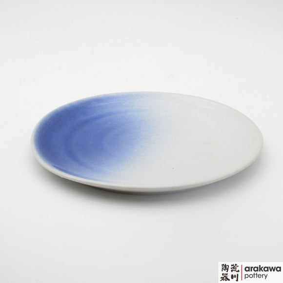 Handmade Ceramic Dinnerware: Round Platter (S), White and Blue Mist Glaze - 1224 - 003 made by Thomas Arakawa and Kathy Lee-Arakawa at Arakawa Pottery