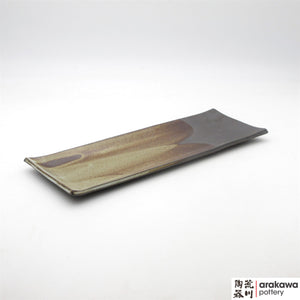 Handmade Ceramic Dinnerware: Long Rectangular Plate, Chun Glaze - 1224 - 013 made by Thomas Arakawa and Kathy Lee-Arakawa at Arakawa Pottery