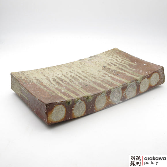 Handmade Ceramic Dinnerware: Wood-Fired Rectangular Plate, Wood Fire  glaze - 1224 - 029 made by Thomas Arakawa and Kathy Lee-Arakawa at Arakawa Pottery