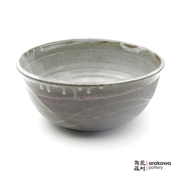 Handmade Ceramic Dinnerware: Serving Bowl (L), Clear Swish Glaze - 1224 - 032 made by Thomas Arakawa and Kathy Lee-Arakawa at Arakawa Pottery