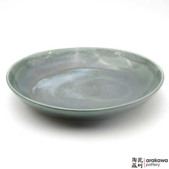 Handmade Ceramic Dinnerware: Pasta Bowl Serving (L), Oribe Glaze - 1224 - 036 made by Thomas Arakawa and Kathy Lee-Arakawa at Arakawa Pottery