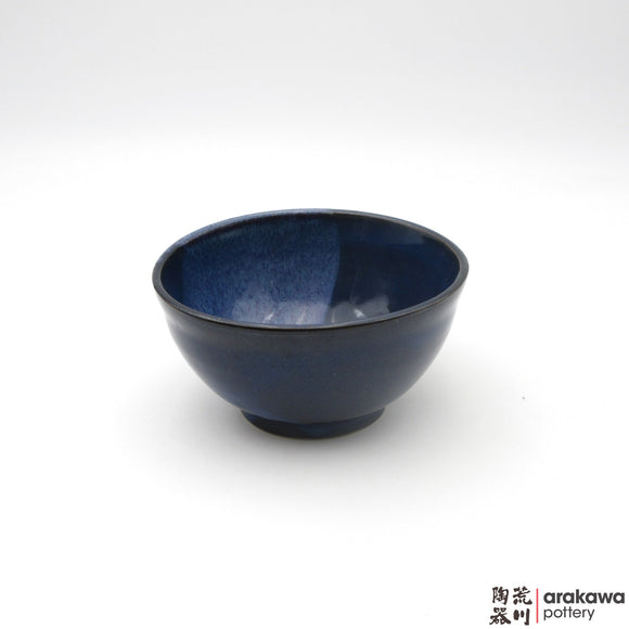 Handmade Ceramic Dinnerware: Soup Bowl, Navy and Flambe Glaze - 1224 - 069 made by Thomas Arakawa and Kathy Lee-Arakawa at Arakawa Pottery