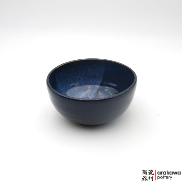 Handmade Ceramic Dinnerware: Soup Bowl, Navy and Flambe Glaze - 1224 - 070 made by Thomas Arakawa and Kathy Lee-Arakawa at Arakawa Pottery