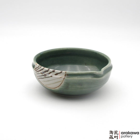 Handmade Ceramic Dinnerware: Katakuchi Bowl, Oribe Glaze - 1224 - 085 made by Thomas Arakawa and Kathy Lee-Arakawa at Arakawa Pottery