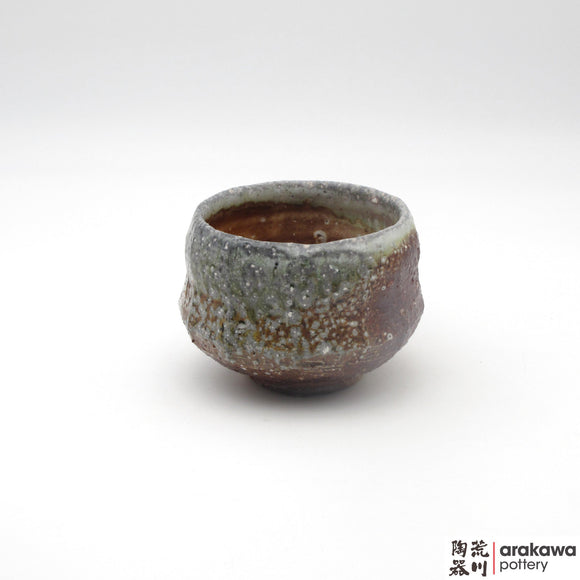 Handmade Ceramic Dinnerware: Tea Bowl, Wood Fire glaze - 1224 - 088 made by Thomas Arakawa and Kathy Lee-Arakawa at Arakawa Pottery