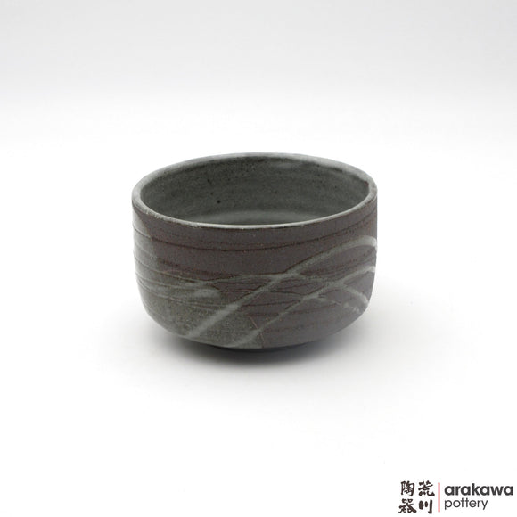 Handmade Ceramic Dinnerware: Tea Bowl, Clear Swish Glaze - 1224 - 095 made by Thomas Arakawa and Kathy Lee-Arakawa at Arakawa Pottery