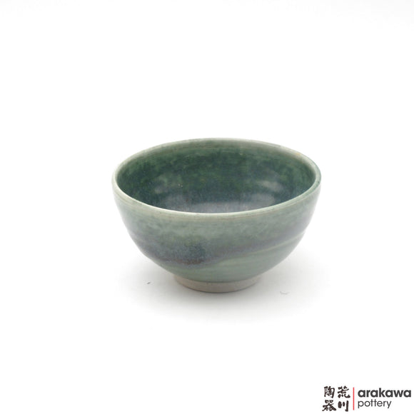 Handmade Ceramic Dinnerware: Rice Bowl , Oribe Glaze - 1224 - 104 made by Thomas Arakawa and Kathy Lee-Arakawa at Arakawa Pottery