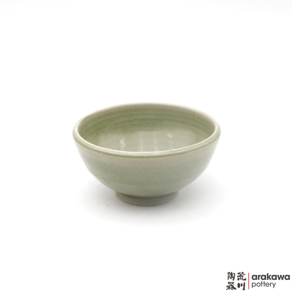 Handmade Ceramic Dinnerware: Rice Bowl , Celadon Glaze - 1224 - 107 made by Thomas Arakawa and Kathy Lee-Arakawa at Arakawa Pottery