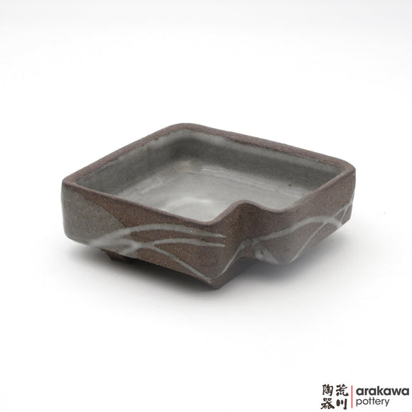 Handmade Ceramic Dinnerware: Appetizer Bowl, Clear Swish Glaze - 1224 - 114 made by Thomas Arakawa and Kathy Lee-Arakawa at Arakawa Pottery