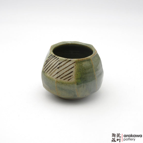 Handmade Ceramic Dinnerware: Tulip Cup, Oribe Glaze - 1224 - 125 made by Thomas Arakawa and Kathy Lee-Arakawa at Arakawa Pottery