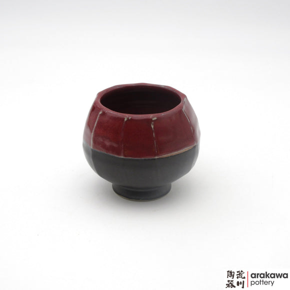 Handmade Ceramic Dinnerware: Tulip Cup, Black & Red Glaze - 1224 - 126 made by Thomas Arakawa and Kathy Lee-Arakawa at Arakawa Pottery