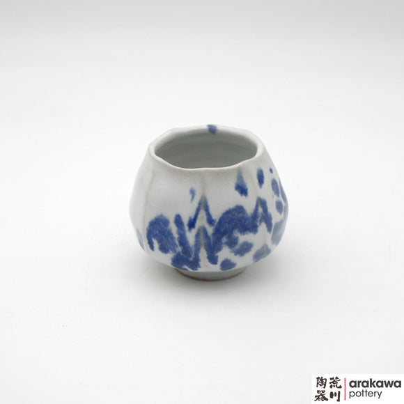 Handmade Ceramic Dinnerware: Tulip Cup, White and Blue Splash Glaze  glaze - 1224 - 127 made by Thomas Arakawa and Kathy Lee-Arakawa at Arakawa Pottery