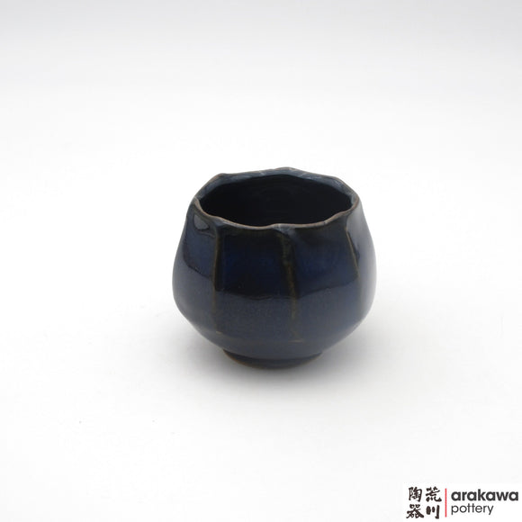 Handmade Ceramic Dinnerware: Tulip Cup, Navy Glaze - 1224 - 128 made by Thomas Arakawa and Kathy Lee-Arakawa at Arakawa Pottery