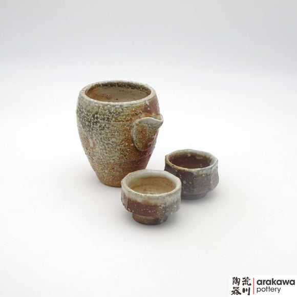 Handmade Ceramic Dinnerware: Sake Set, Wood Fire  - 1224 - 131 made by Thomas Arakawa and Kathy Lee-Arakawa at Arakawa Pottery