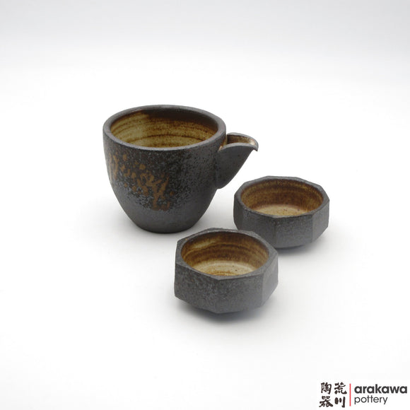 Handmade Ceramic Dinnerware: Sake Set, Wood Ash glaze - 1224 - 134 made by Thomas Arakawa and Kathy Lee-Arakawa at Arakawa Pottery