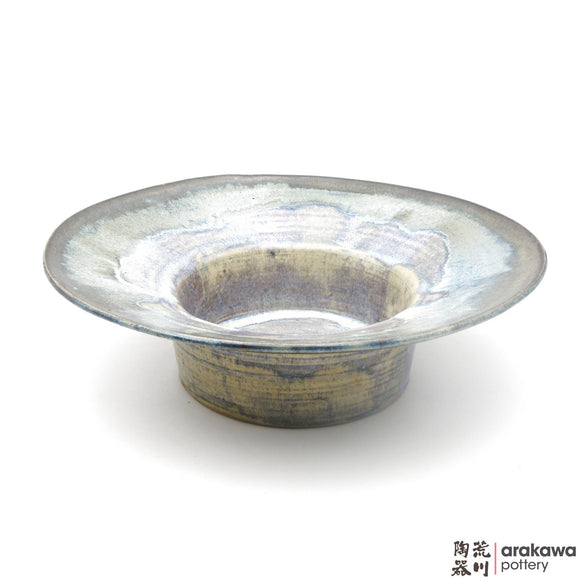 Handmade Ceramic Ikebana Container: Wide-Rim Suiban, Rutile Glaze - 1224 - 158 made by Thomas Arakawa and Kathy Lee-Arakawa at Arakawa Pottery