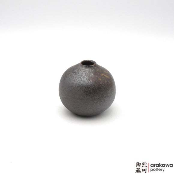 Handmade Ceramic Ikebana Container: Mini Vase , Wood Ash Glaze - 1224 - 193 made by Thomas Arakawa and Kathy Lee-Arakawa at Arakawa Pottery