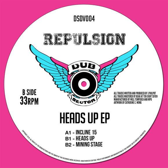 Repulsion - Heads Up EP