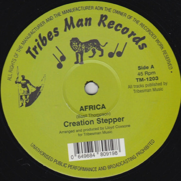 CREATION STEPPER/PEBBLES - Africa