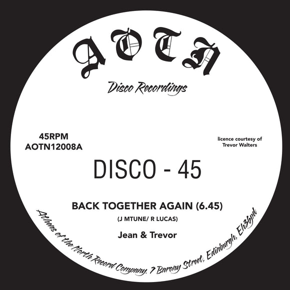 JEAN & TREVOR/IMF PLAYERS - Back Together Again (reissue)(1 per customer)