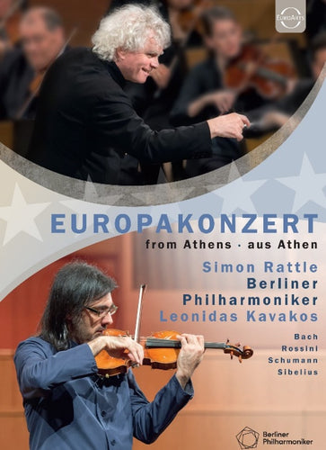 Berliner Philharmoniker, Sir Simon Rattle, Leonidas Kavakos - EUROPAKONZERT 2015 [BLURAY]