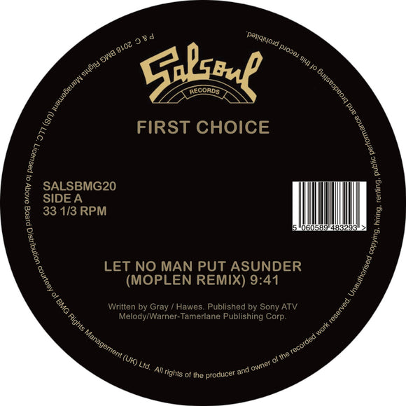 CANDIDO / FIRST CHOICE - JINGO / LET NO MAN PUT ASUNDER (MOPLEN EDITS)