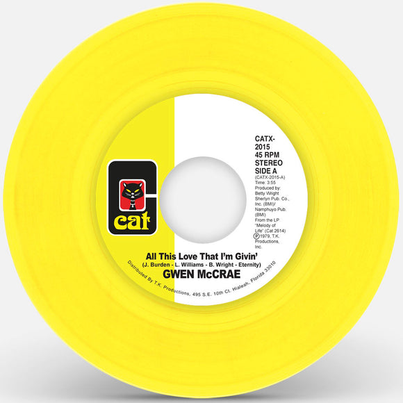 Gwen Mccrae - All This Love I'm Giving (Yellow Vinyl Repress)