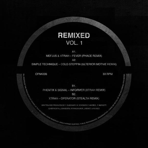 MEFJUS/XTRAH/SIMPLE TECHNIQUE/PHENTIX/SIGNAL - Remixed Vol 1