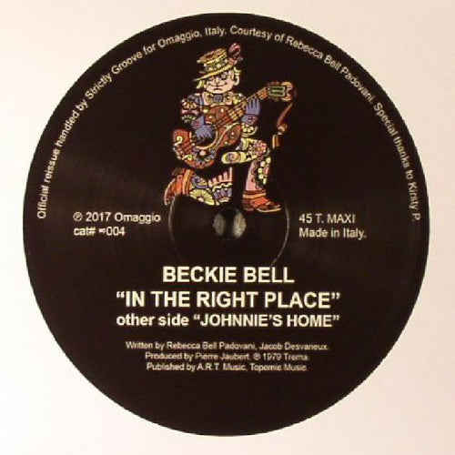 BECKIE BELL - In The Right Place (reissue)