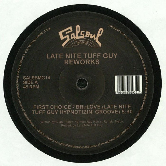 FIRST CHOICE / DOUBLE EXPOSURE / LATE NITE TUFF GUY - Dr Love