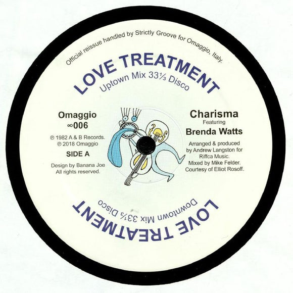 CHARISMA feat BRENDA WATTS - Love Treatment (reissue)