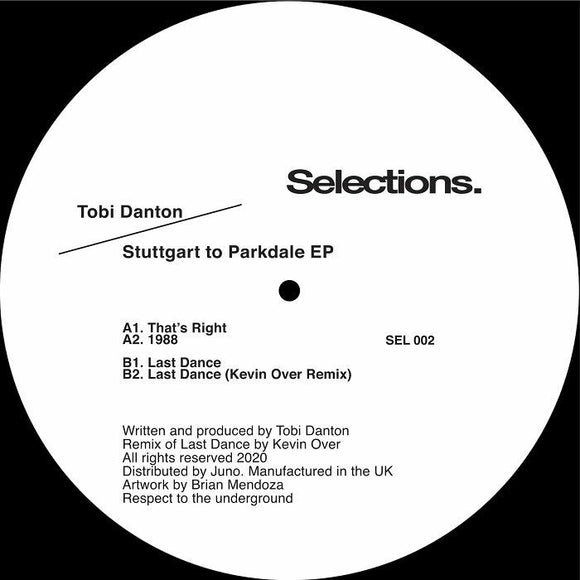 Tobi Danton / Kevin Over - Stuttgart to Parkdale EP (Kevin Over remix)