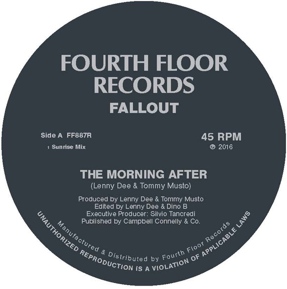 FALLOUT - THE MORNING AFTER [Repress] (ONE PER PERSON)