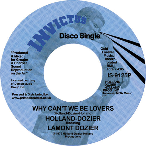 Holland-Dozier feat Lamont Dozier - Why Can't We Be Lovers