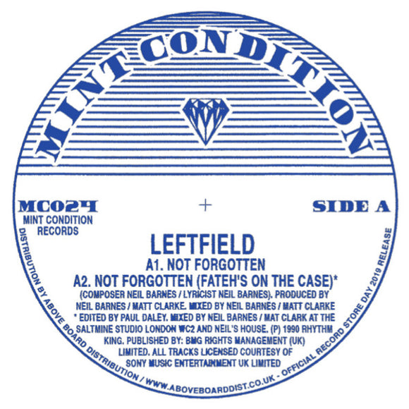Leftfield - Not Forgotten (Record Store Day 2019)