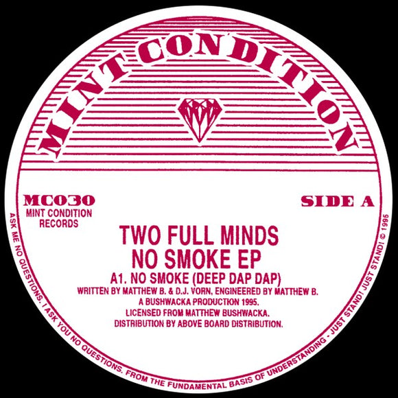 TWO FULL MINDS - No Smoke EP