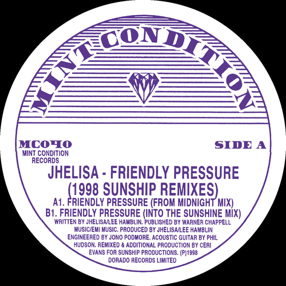 Jhelisa - Friendly Pressure (1998 Sunship Remixes)