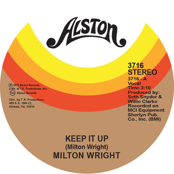 MILTON WRIGHT - KEEP IT UP