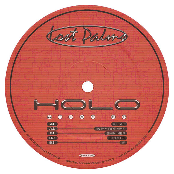 Holo - Atlas EP [red marbled vinyl / full colour sleeve]